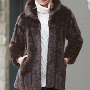 Donna salyers faux fur coat